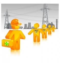 Radioactive waste icon vector