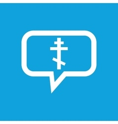 Orthodox cross message icon vector