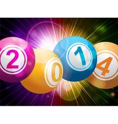 2014 bingo lottery balls on starburst vector