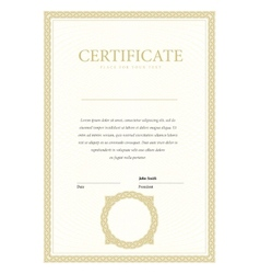 Vertical template certificate and diplomas vector