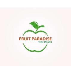 Logo design element apple fruit eco vector