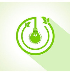 Eco bulb with and leaf vector