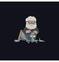 Professor character design robot vector