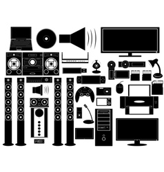 Multimedia devices vector
