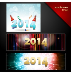 2014 new year banners vector