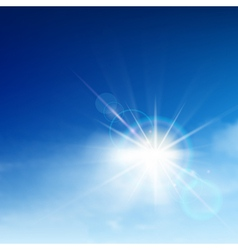 Bright blue sky vector