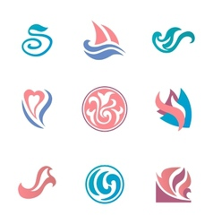 Abstract beauty icons for corporate identity vector