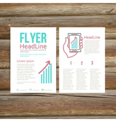 Abstract brochure flyer design success vector