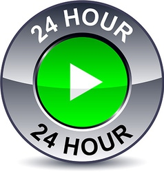 24 hour round button vector