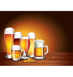 Beer jars background vector