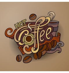 Coffee hand lettering vector