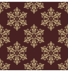 Floral seamless golden pattern orient vector