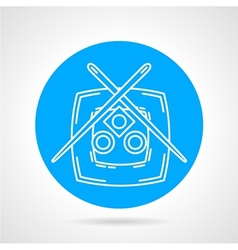 Sushi plate blue icon vector