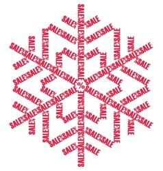 Sale sign christmas snowflake vector