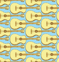 Sketch guitar musical instrument vector