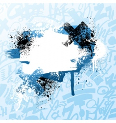 Graffiti paint splatter vector