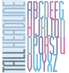 Poster condensed colorful font striped compact vector
