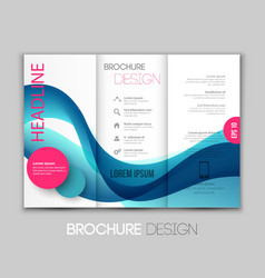Abstract curved lines background template brochure vector