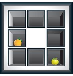 Exhibition shelves vector