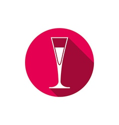 Horeca graphic element champagne glass alcohol vector
