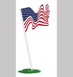 American flag pole vector