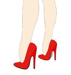 Beautiful legs in high heels vector