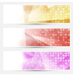 Abstract crystal dotted cards collection vector