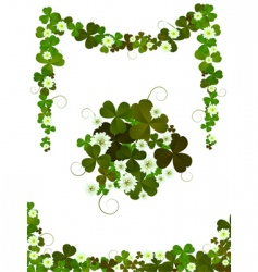 Decorative clover vector