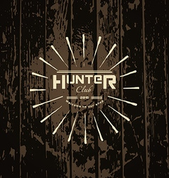 Hunter club badges logos and labels for any use vector
