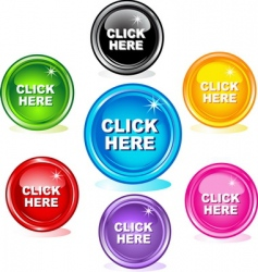 Click here buttons vector