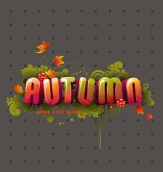 Colorful 3d autumn headline vector