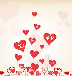 Romantic valentines day background vector