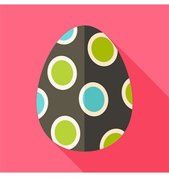 Easter egg with big circles vector