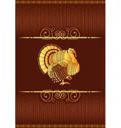Thanksgiving turkey background vector