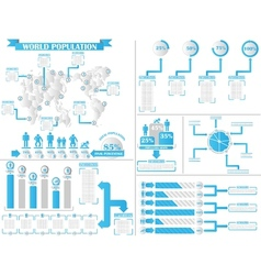 Infographic demographics 4 vector
