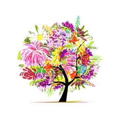 Floral tree for your design vector