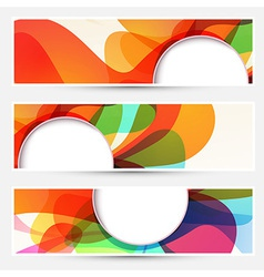 Bright liquid flow colorful banners set vector