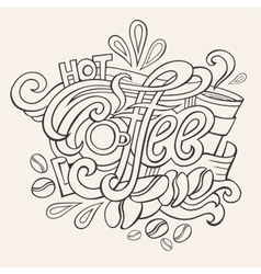 Coffee hand lettering sketch vector