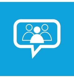 Group leader message icon vector