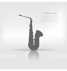 Music wind instruments icon saxophone vector