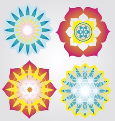 Mini mandalas icons vector