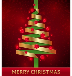 Decorative paper christmas tree vector