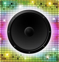 Colorful disco party design vector