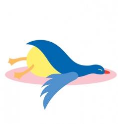 Lazy bird vector