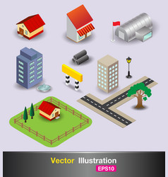 3d city object vector