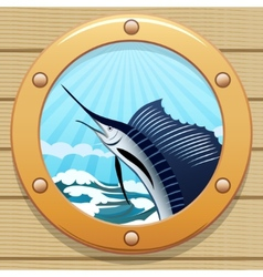 Sail fish vector