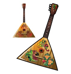 Russian national music instrument - balalaika vector