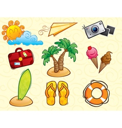 Vacation pack vector