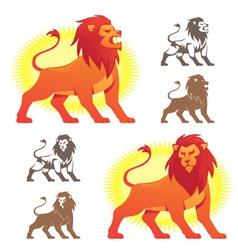 Lion symbols vector