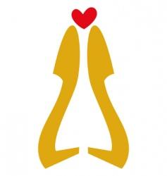 Love high heels vector